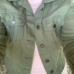 Denim Jacket - Olive Green